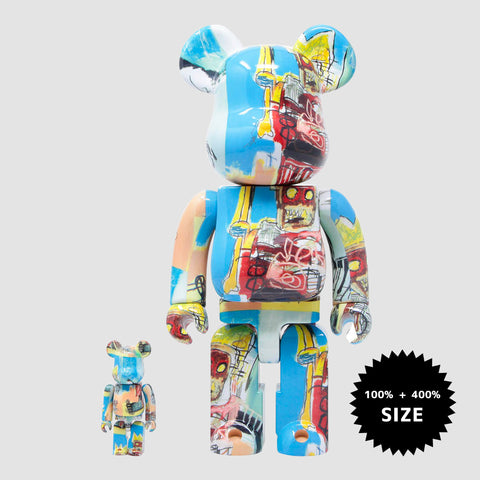 MEDICOM TOY: BE@RBRICK - Jean-Michel Basquiat #6 100% & 400%
