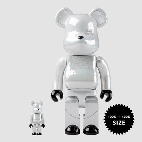 MEDICOM TOY: BE@RBRICK - Nike SB White 100% & 400%