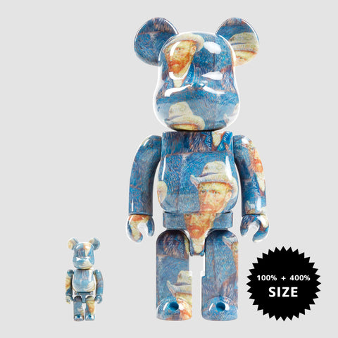 MEDICOM TOY: BE@RBRICK - Vincent Van Gogh Museum Self Portrait 100% & 400%