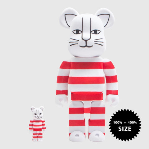 MEDICOM TOY: BE@RBRICK - Lisa Larson Mikey Flocky Red 100% & 400%