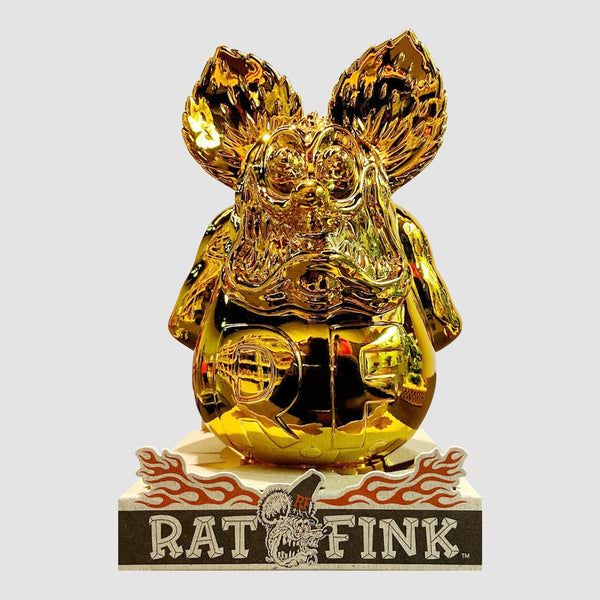"Ed ""Big Daddy"" Roth x Secret Base - Rat Fink Gold Chrome Made in Japan Limited Edition"
