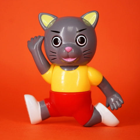 Pointless Island x Awesome Toy - Little Grey Cat PE Class Edition Sofubi Figure
