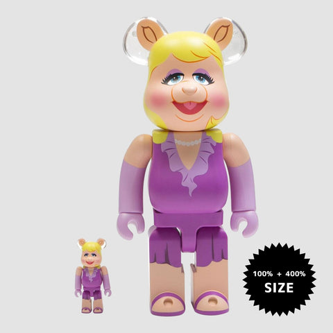 MEDICOM TOY: BE@RBRICK - The Muppets Miss Piggy 100% & 400%