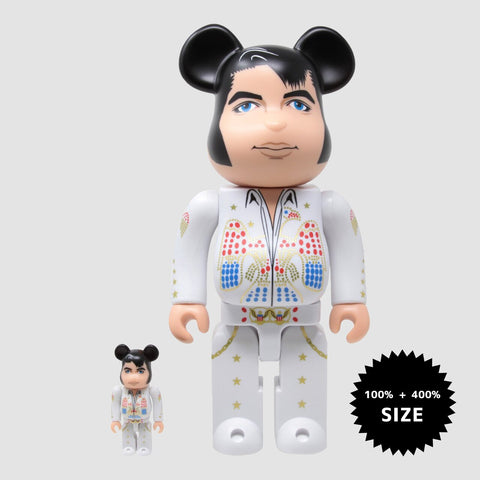 MEDICOM TOY: BE@RBRICK - Elvis Presley White 100% & 400%