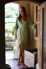 Load image into Gallery viewer, Bamboo Silk midi Wrap Dress