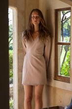 Load image into Gallery viewer, Organic Fleece mini Wrap Dress