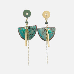 Boucles d'oreilles Edwige - Collection Amazonie
