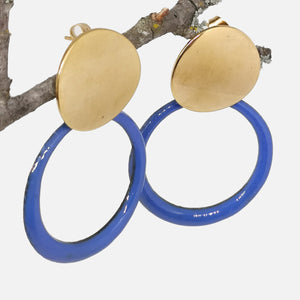 Boucles d'oreilles Manon -  Collection Uni bleu