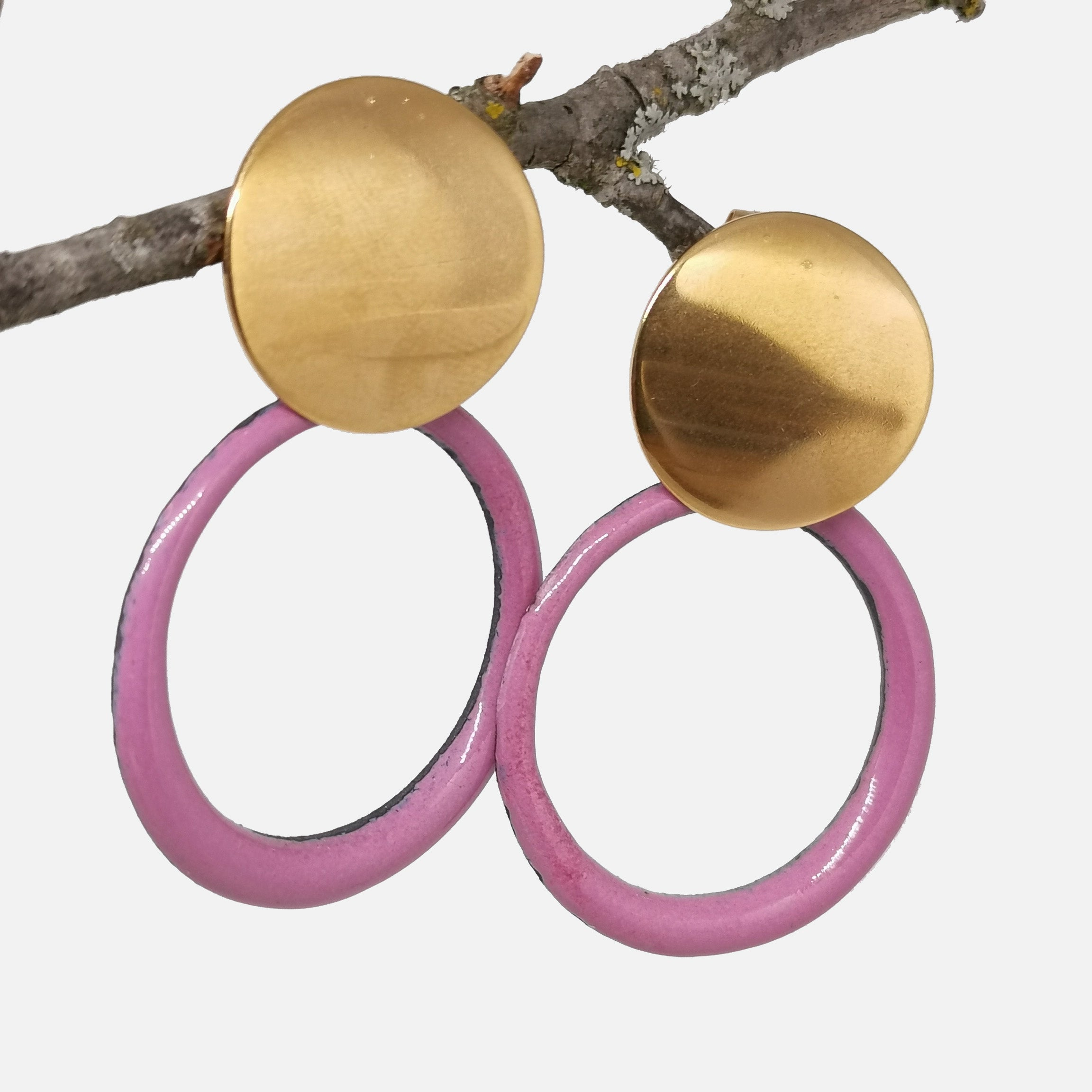 Boucles d'oreilles Manon -  Collection Uni Rose