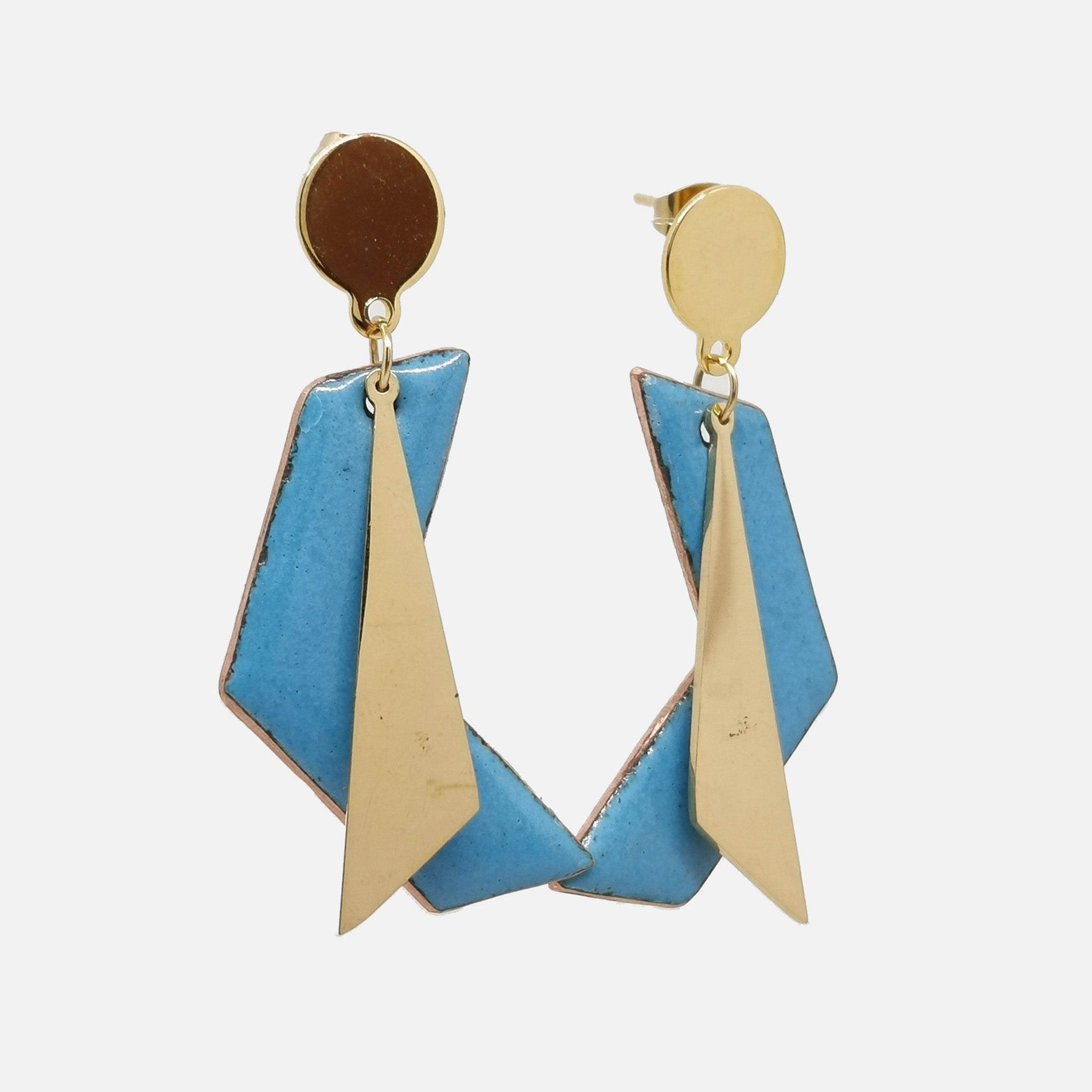 Boucles d'oreilles Roxane - Collection Uni Bleu