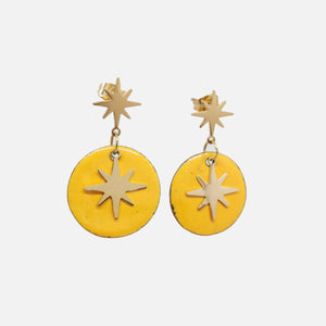 Boucles d'oreilles Star - Collection Uni jaune