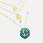 Charger l'image dans la galerie, Collier Triple Salomé  - Collection Lagon