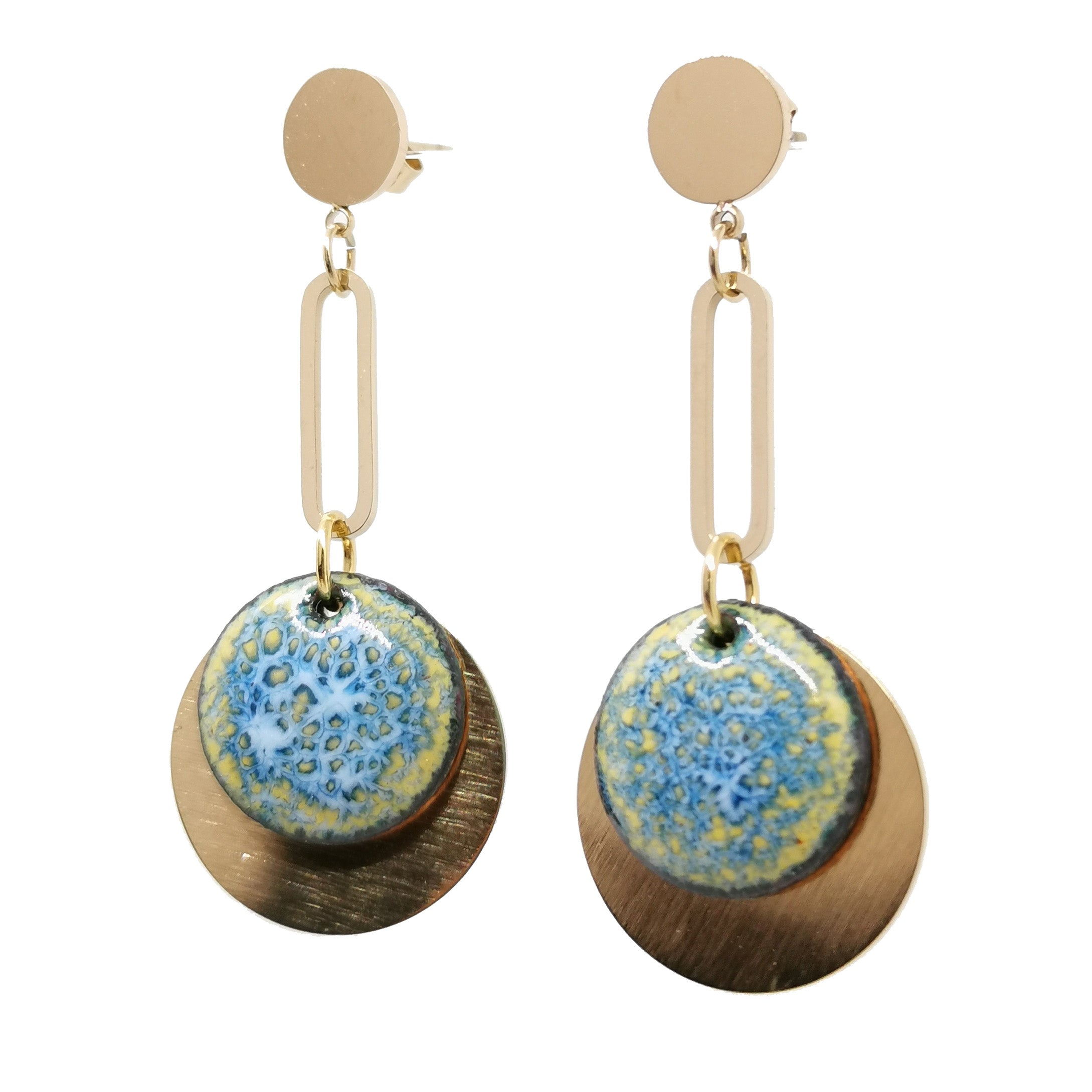 Boucles d'oreilles Jade -  Collection Myosotis