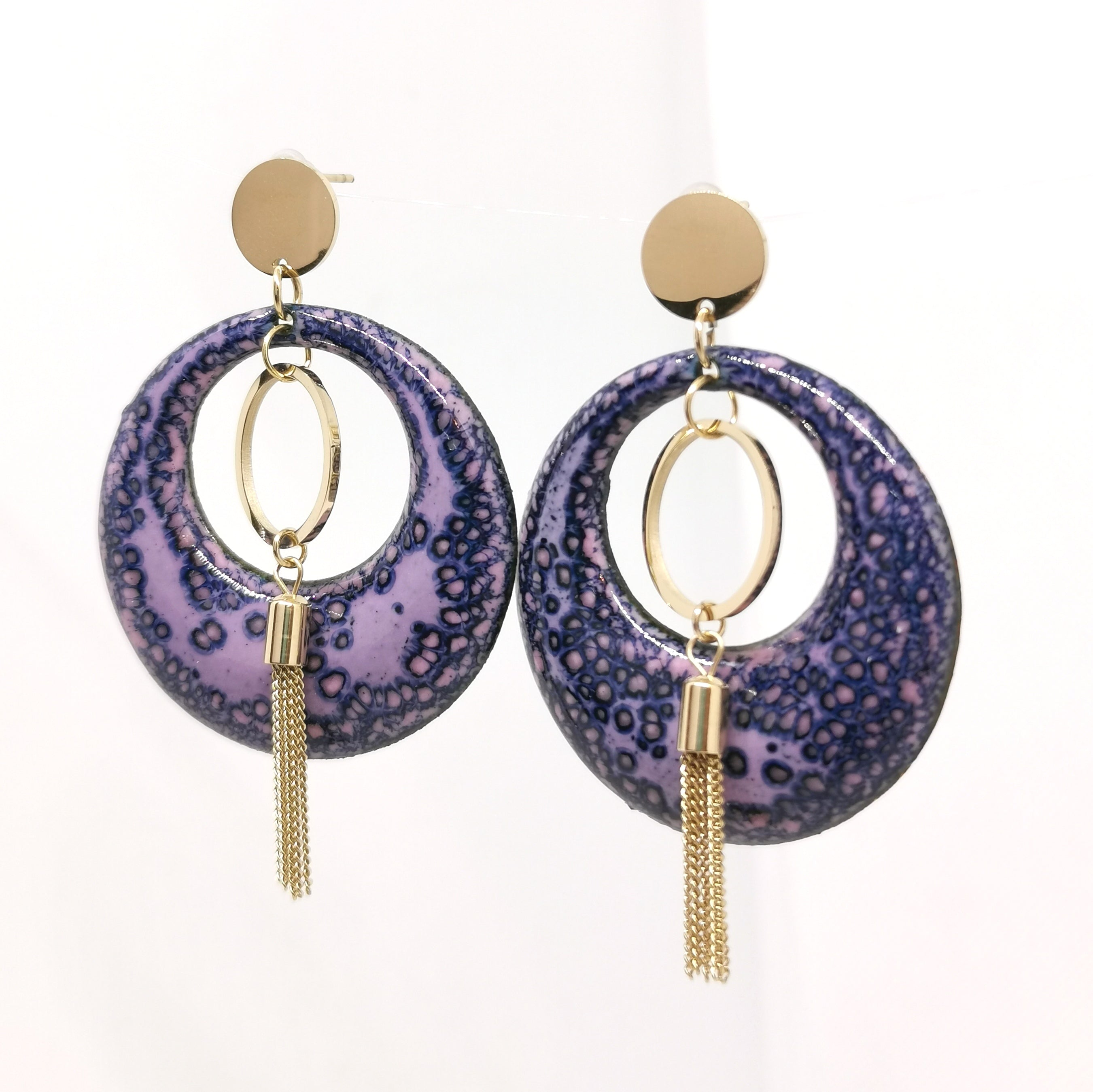 Boucles d'oreilles Apache -  Collection Glycine