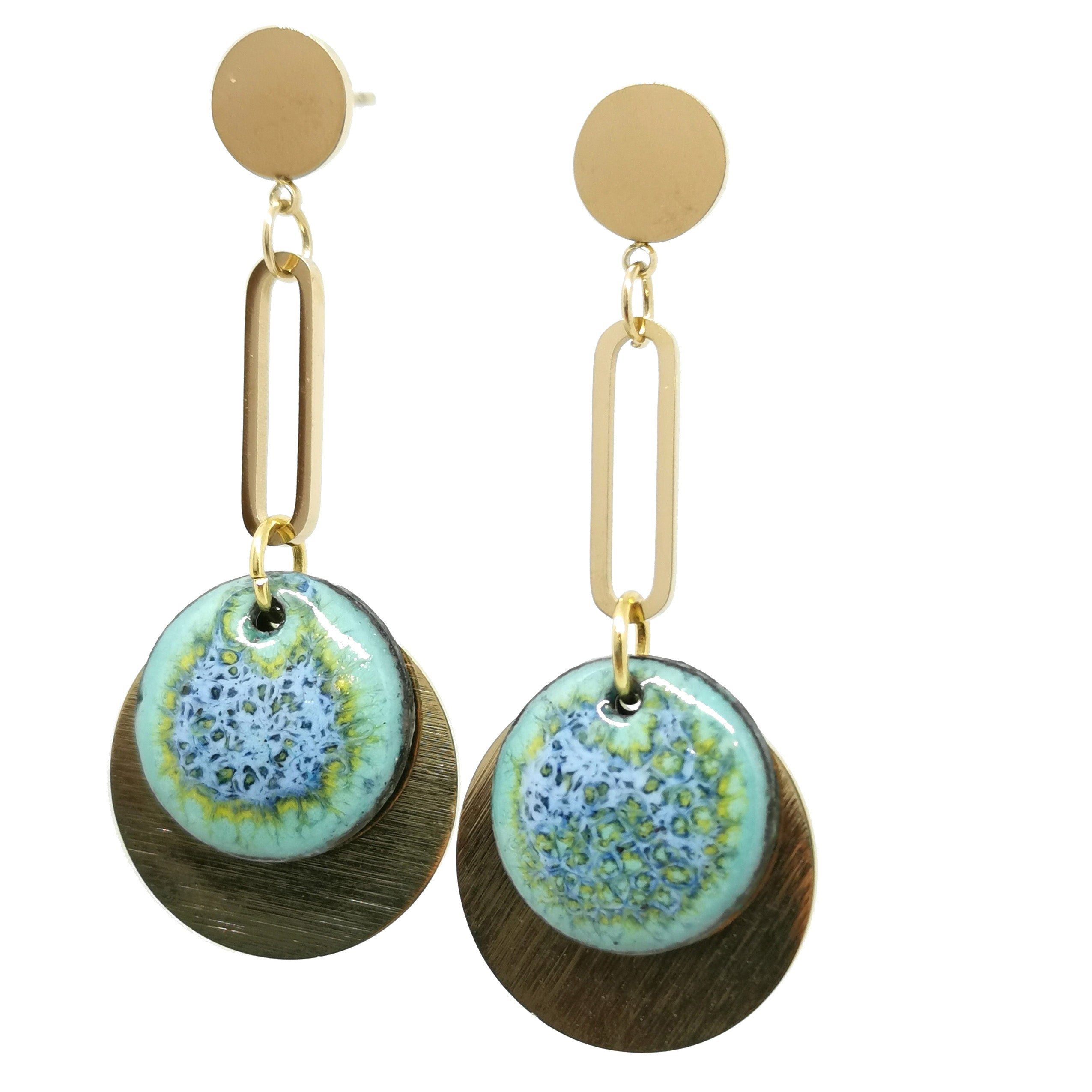 Boucles d'oreilles Jade -  Collection Lagon