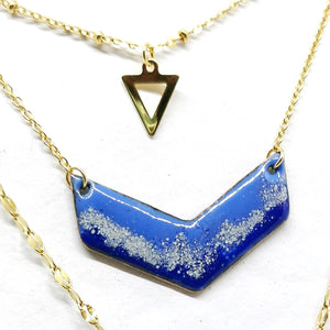 Collier Triple  - Collection Paysage Bleu