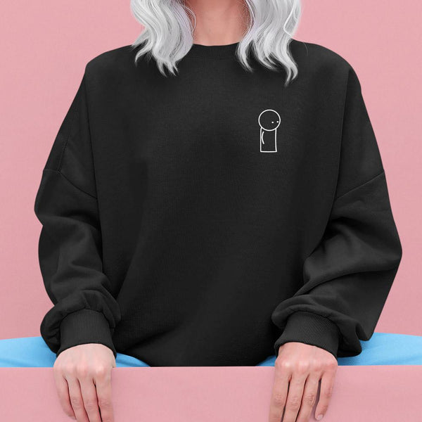 OverSimplified Embroidered Logo Unisex Sweater