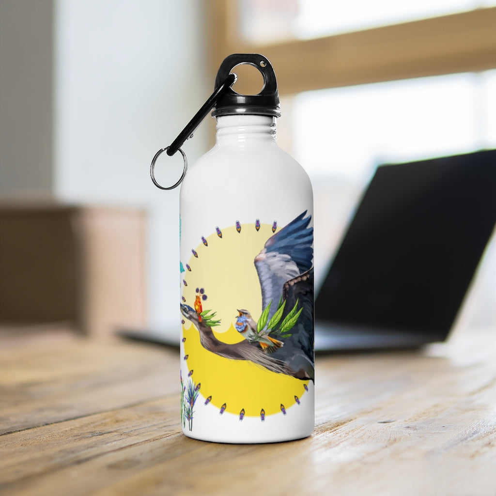 Stainless Steel Water Bottle: Fiya Bruxa's Vuelo y Canto