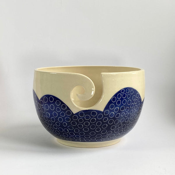Sgraffito Yarn Bowl