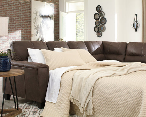 Navi Signature Design by Ashley 2-Piece Sleeper Sectional with Chaise image