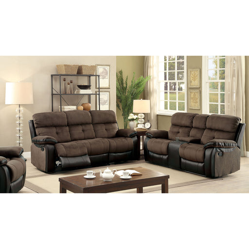 Hadley I Brown/Black Sofa + Love Seat image