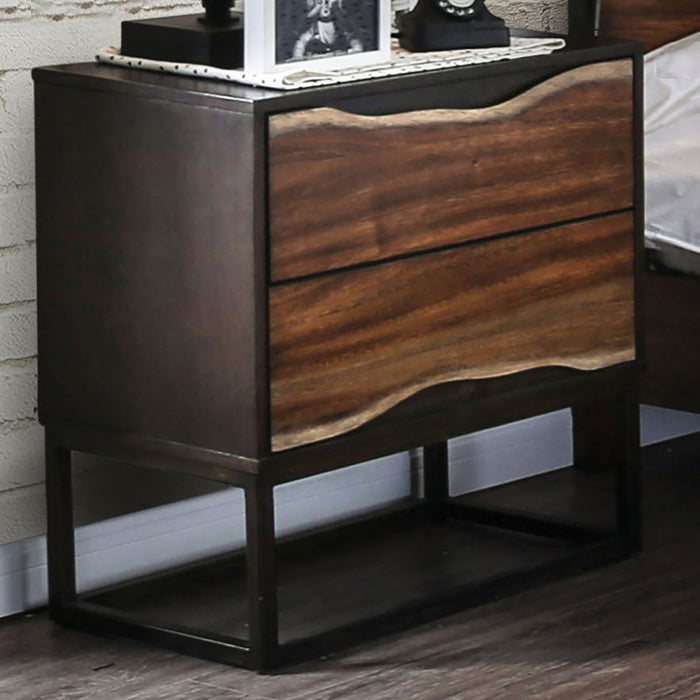 Fulton Dark Oak/Dark Walnut Night Stand image