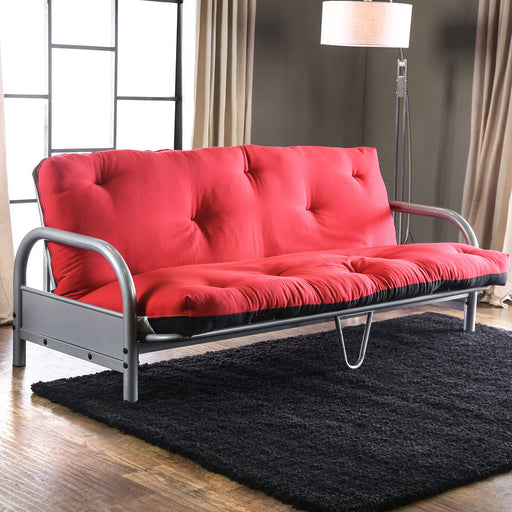 Aksel Black/Red Futon Mattress, Black & Red image
