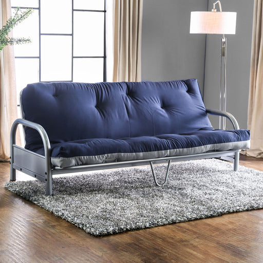 Aksel Black/Red Futon Mattress, Navy & Gray image