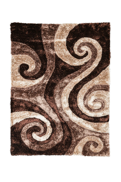 Fermont Brown Beige 5' X 8' Area Rug image