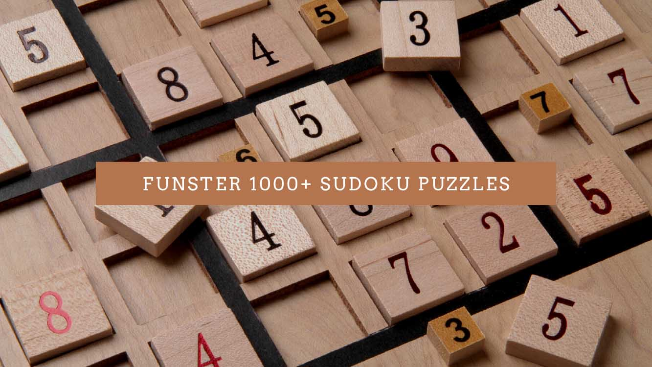 Funster 1000+ Sudoku Puzzles - Sprightly