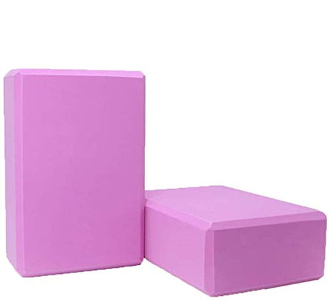 Buy the Pink Colored 2 Pack Yoga Blocks for Sale - Sprightly