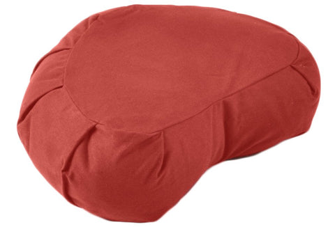 Cardinal Red Crescent Cotton Zafu Meditation Cushion Set - Sprightly