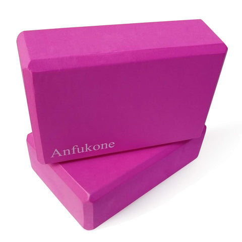 Buy the Magenta Colored 2 Pack Yoga Block - Sprightly