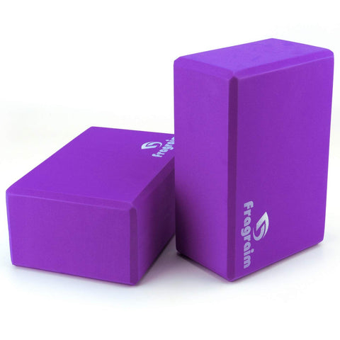 Buy the Purple Colored 2 Pack Beginner Yoga Blocks - Sprightly