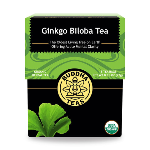 Buy the 18 Bags Best Organic Ginkgo Biloba Tea Online - Sprightly