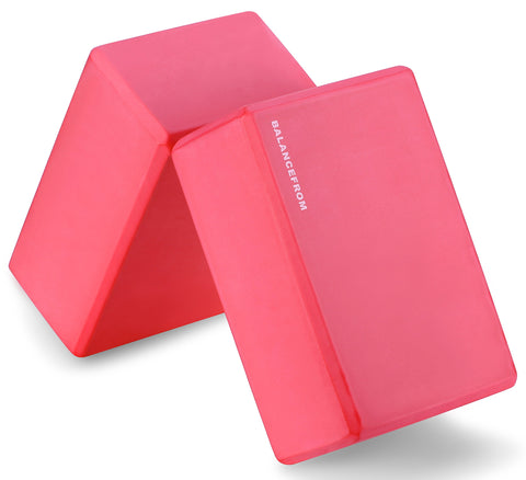 Buy the Red Colored 2 Pack Beginner Yoga Block - Sprightly