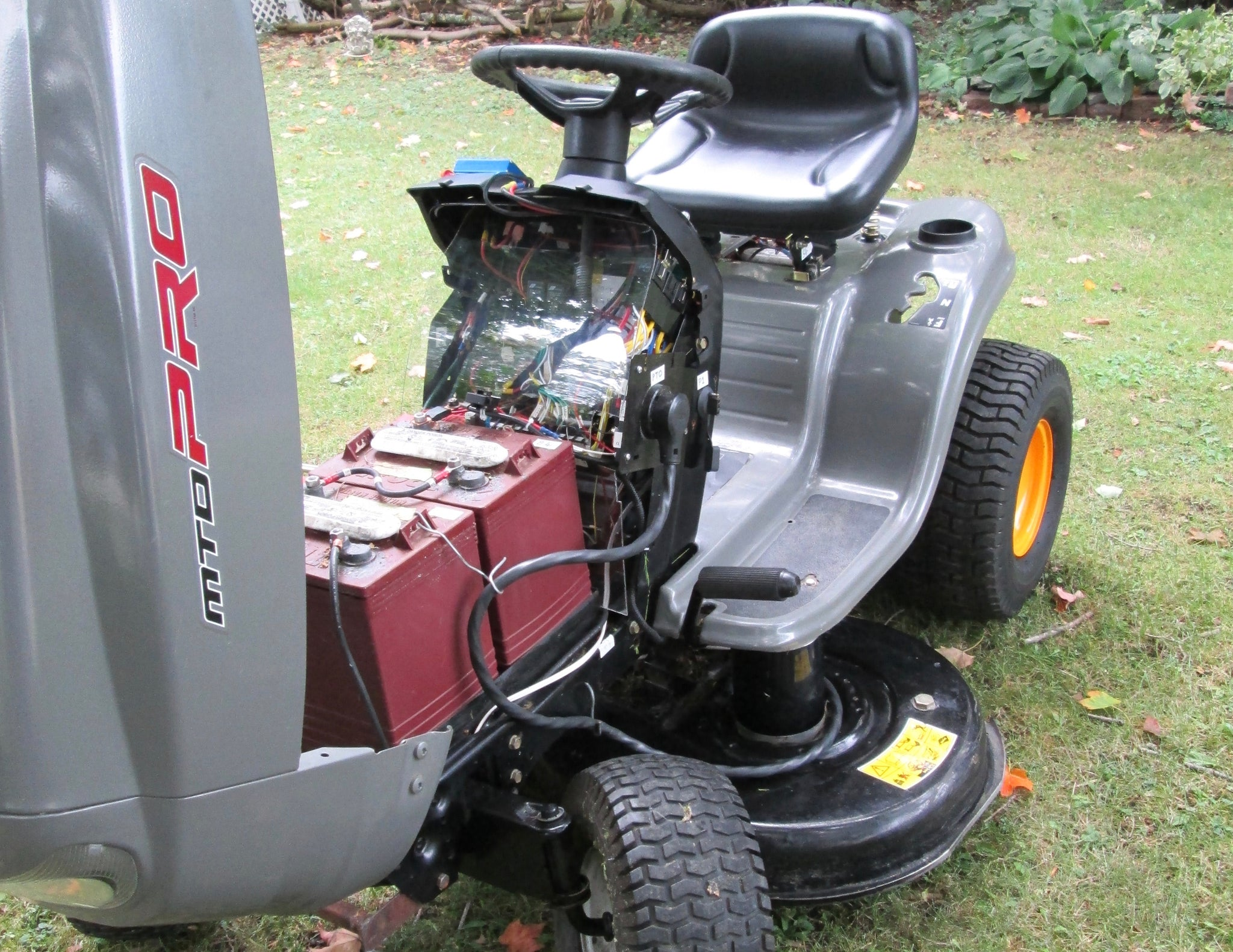 Convert your lawn tractor to clean quiet electric with Edmond's conversion kit clean battery power