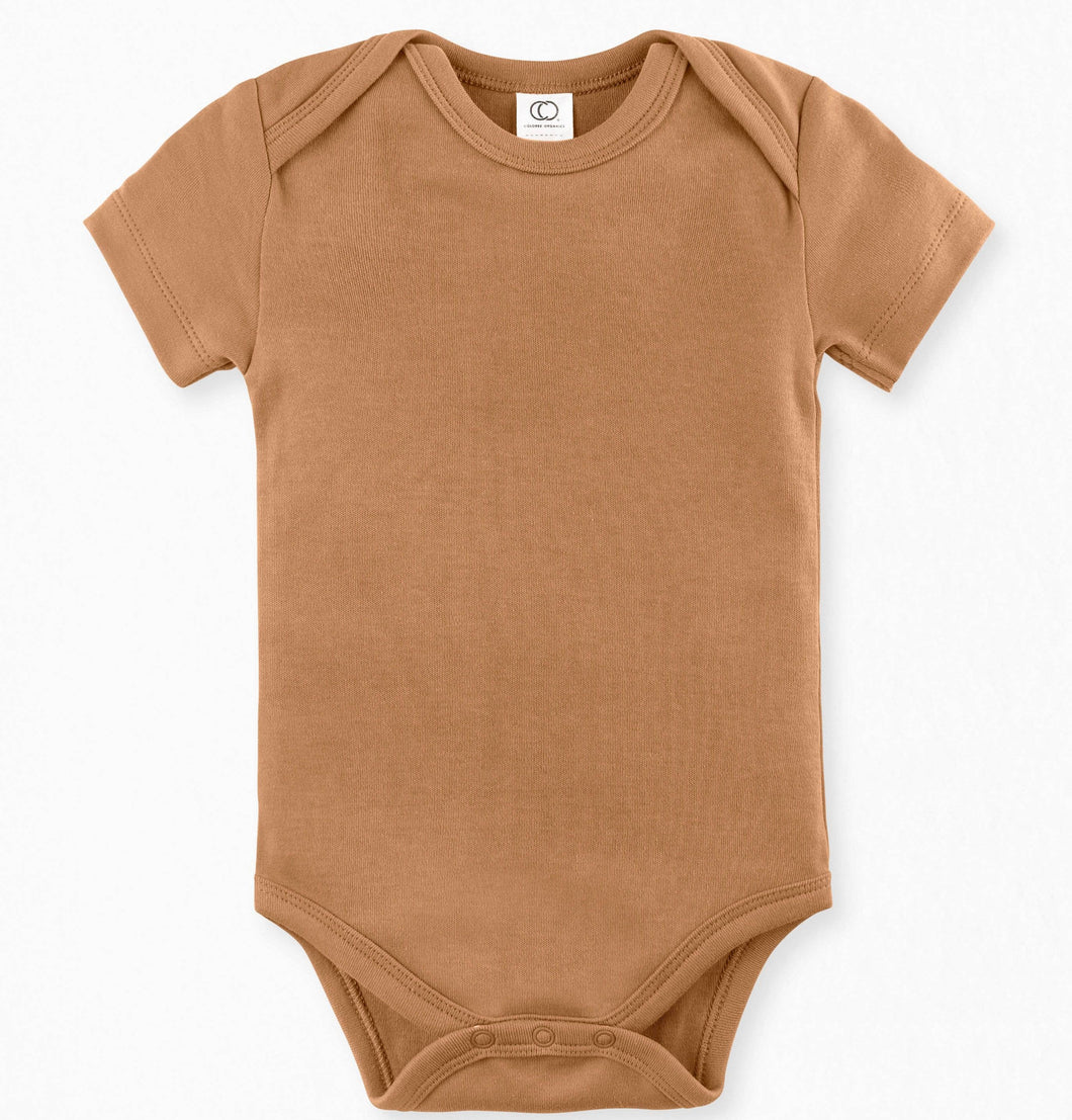 organic colored baby onesie
