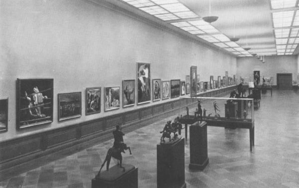 View of the 1932 Olympic Art Exhibit