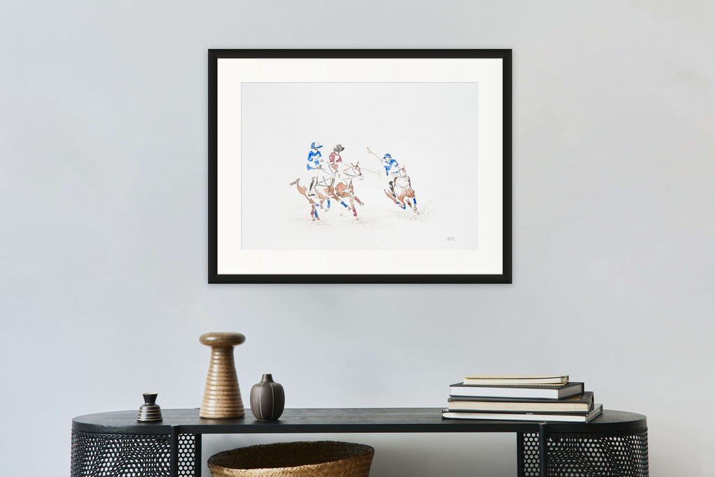 Polo players watercolors by Carlota Sarvise