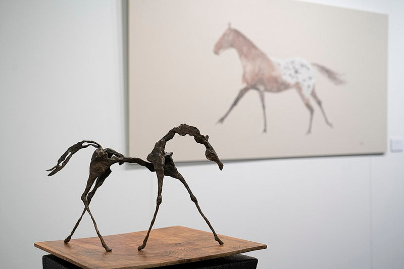 Equestrian watercolors and bronze sculptures by Carlota Sarvise