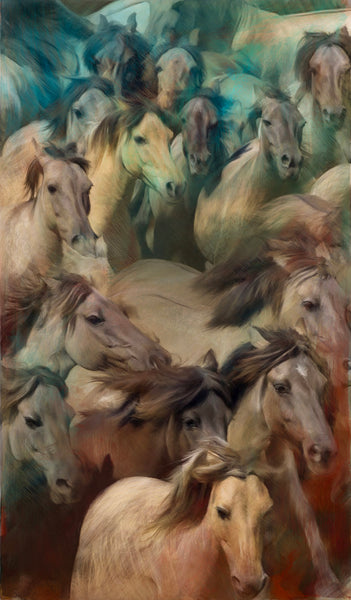 Equestrian contemporary painting