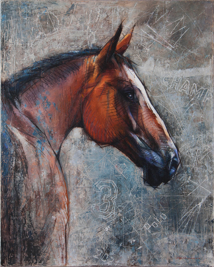 """""""Guess my passion"""" polo pony painting"""