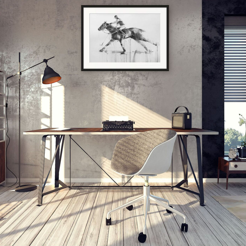 Contemporary interior with modern polo drawing by Tianyin Wang.