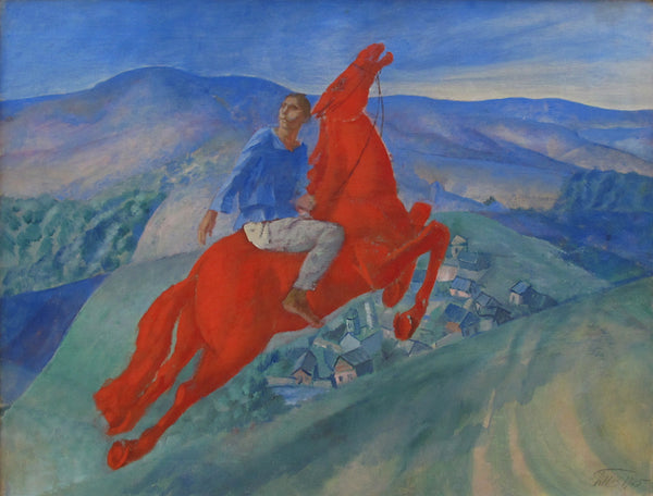 Icon of the Russian avant-garde. Red horses by Kuzma Petrov-Vodkin