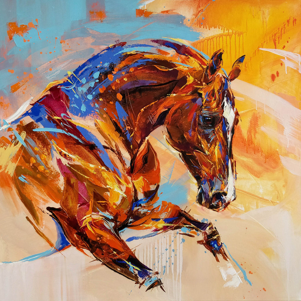 Semi abstract horse portrait by Anna Cher
