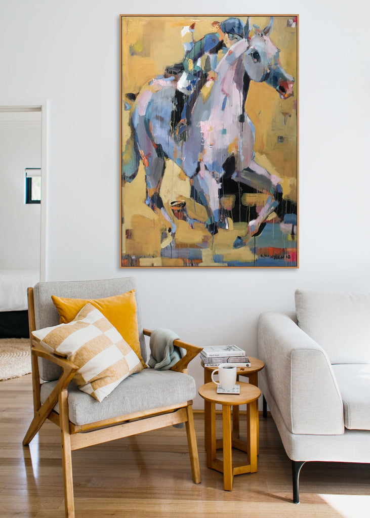 Semi abstract equine painting by Anne Hansson