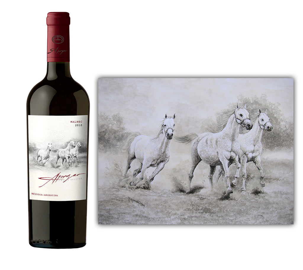 Wine equestrian paintings by Martin Rodriguez