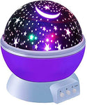 Night light galaxy star projector