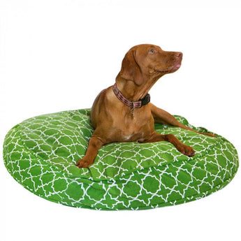 Title Track Green Round Dog Bed Duvet